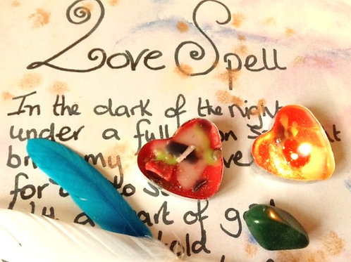 Love spell~ love attraction~ CANDLE & spell kit