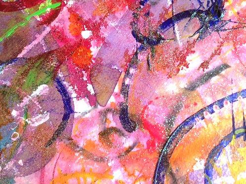 Djinn spell painting~art~conjured abundance spell