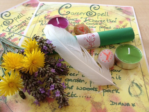 JOB SPELL KIT~PAGAN~Wicca White Witchcraft spell