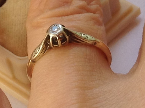 on hold Genuine Diamond enchanted DIAMOND Ring 9ct gold