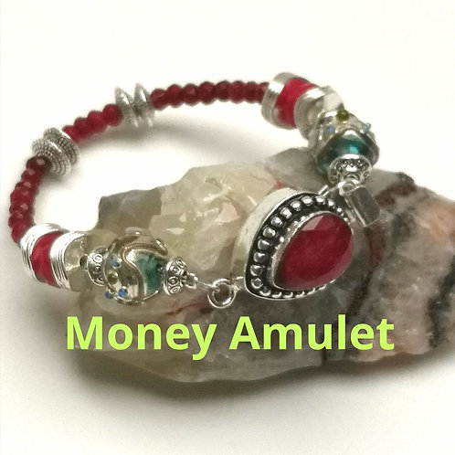 ABUNDANCE AMULET~ SPELL CAST REAL RUBY bracelet ~MONEY & WEALTH