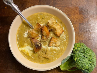 Roasted Broccoli Turnip Soup