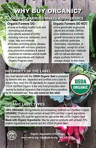 Organic Label and Why Organic postcard U