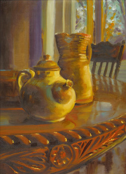 Pitcher and Teapot, 12 x 16