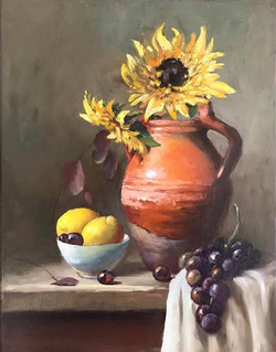 Confit Jar with Sunflowers