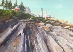 Maine Light House, 9 x 13.5