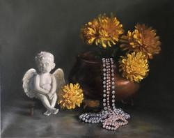 Cherub with Pearls
