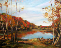Johnson pond in Fall