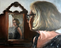 "Selfportrait, 12 x 9"""