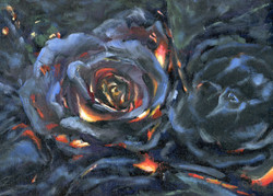"Burning Roses, 12 x 9"""