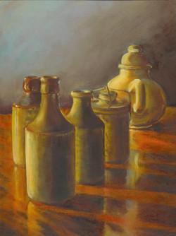 Still life Pottery, 9 x 12
