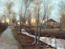Mindowaskin Park, Gazebo in Fog
