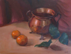 Brass bowl with Tangerines