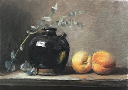 Soy sauce Jar with Peaches