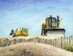 Buldozers at work, 10 x 8