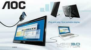 """Moniteur AOC 16"""" USB"""