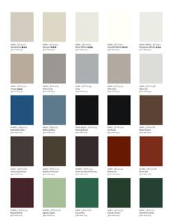 Charte des couleurs - couleur - Moulures modernes - Tiger