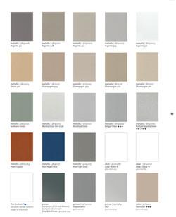 Charte de couleur - Moulures modernes - Couleurs - Tiger