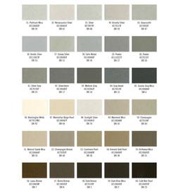 Moulures modernes - Charte - Couleur - PPG - Panneau