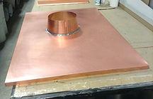 Moulures modernes tête de cheminée en cuivre