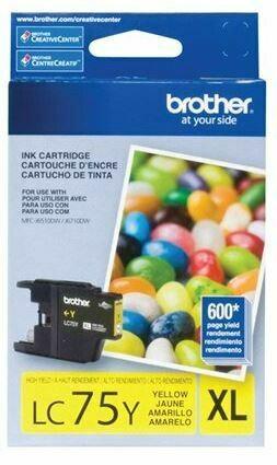 Brother LC75Y XL cartouche d'encre jaune haute capacité