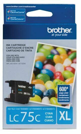 Brother LC75C XL cartouche d'encre cyan haute capacité