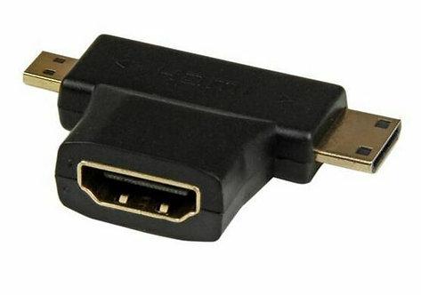 Adaptateur HDMI (Femelle) vers HDMI Mini (Mâle) / HDMI Micro (Mâle)