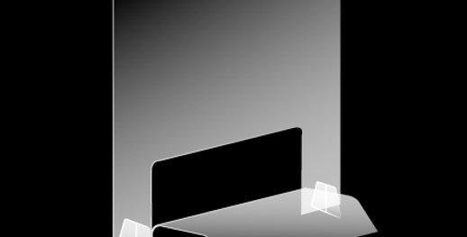 S1.2 Écran de protection horizontal fixe spécialisé en esthétique