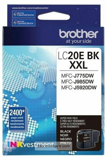 Brother cartouche d'encre noir LC20E, rendement très élevé