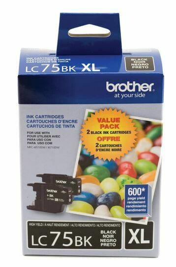 Brother LC75BK XL cartouche d'encre noire haute capacité Paquet de 2