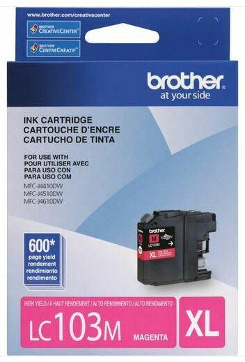 Brother cartouche d'encre magenta LC103M, rendement élevé