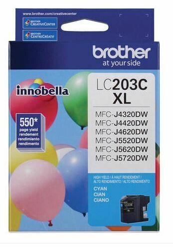 Brother LC203C XL cartouche d'encre cyan haute capacité
