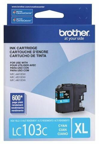 Brother cartouche d'encre cyan LC103C, rendement élevé