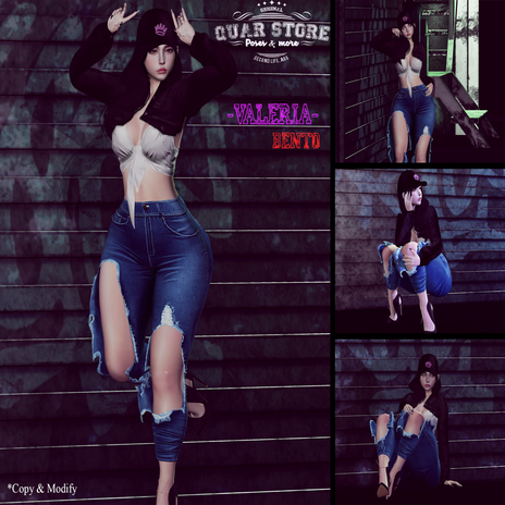 Quar Store - Valeria pose pack bento
