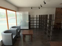 Waiting area & Display Shelves