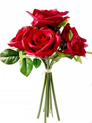 ROSE BUSH X 8 RED 34CM/13.5IN
