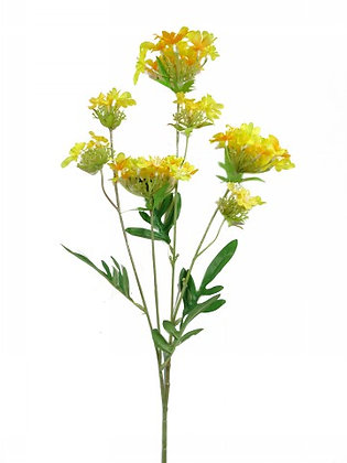 MINI FLOWER SPRAY X 4 YELLOW 66CM/26IN