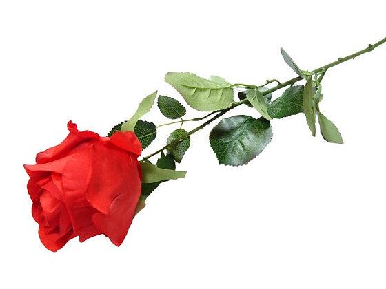 ROSE-BUD SINGLE RED 74CM/29IN