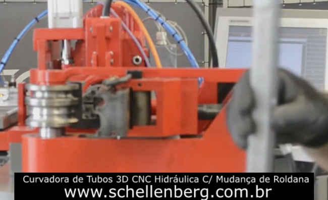 Curvadora Tubos Hidráulica 3D CNC Mudança de Roldana