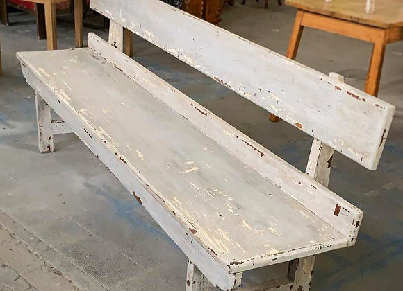 Antique pine wood bench -1920