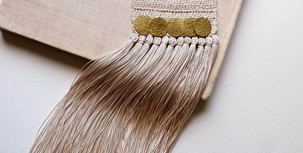Handmade Crochet Handira Fringe Necklace