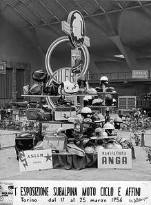 1956 1a esposizione subalpina  motociclo.