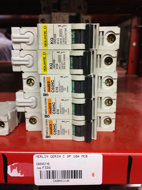 Merlin Gerin Circuit Breaker MCB 10A Type C Single Pole