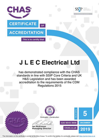 CHAS accreditation received