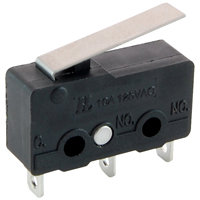 Subminiature Snap Action SPDT 10A Hinge Lever