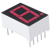 "NTE3078 0.56"" Single Digit Numeric Display Seven Segment, RHDP,"