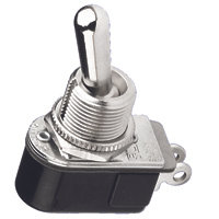 """SPST - On / Off - Solder Lugs - 6A - 1/2"""" Mounting"""