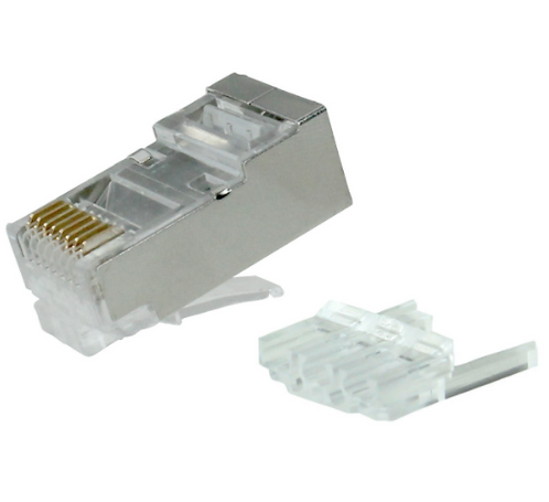 Shielded RJ-45 for Cat6 Long Body Modular Plug - Pack of 50