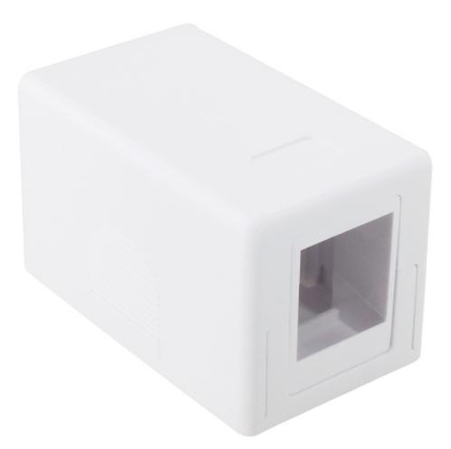 Keystone Jack Surface Mount Box - White 1 or 2 Port