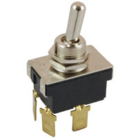 """DPST - On / Off - .250"""" Tabs - 20A - 1/2"""" Mounting"""